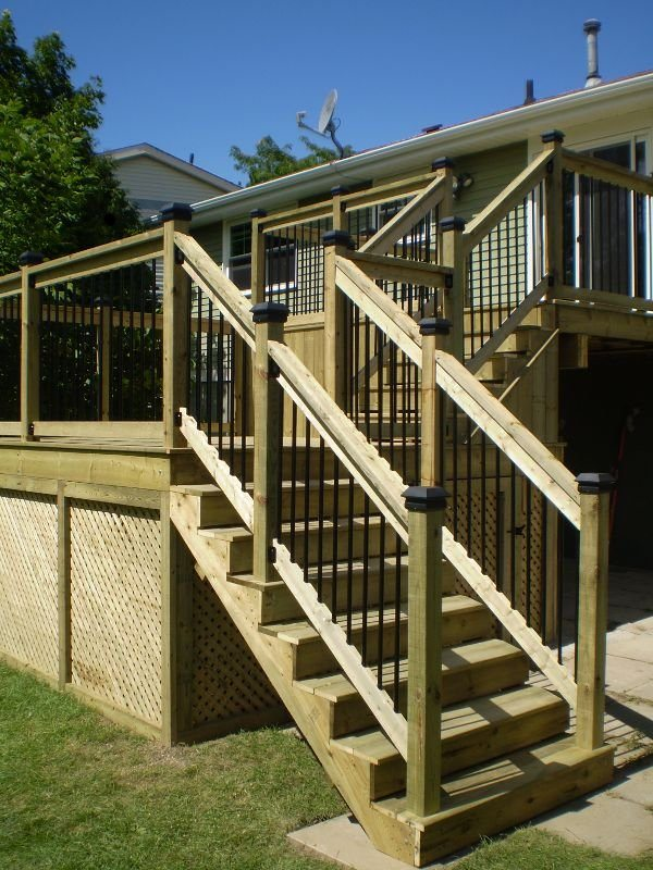 Decks and railings midland multi service for Balcony underside