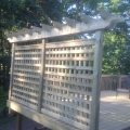 Privacy deck panel