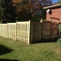 Pressure-treated 6' fence with 2x6 topper