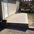 Interlocking stone patio